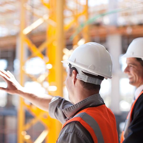 Glenesk 2 men on building site